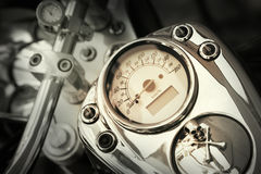 Motorcycle. Detail of a motorcycle speedometer Royalty Free Stock Photo