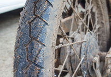 Motorcycle Dirt Wheels Stock Images