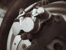 Motorcycle disc brake. Royalty Free Stock Photos