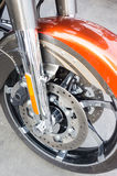 Motorcycle disc brake Stock Photos