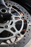 Motorcycle disc brakes Stock Photography