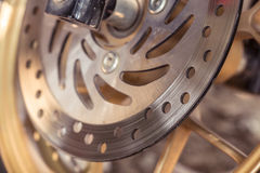 Motorcycle disc brakes Stock Photo