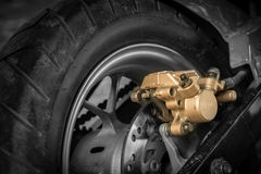 Motorcycle disc brakes Royalty Free Stock Images