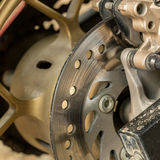 Motorcycle disc brakes Stock Image