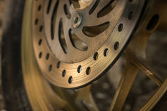 Motorcycle disc brakes Royalty Free Stock Photography