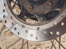 Motorcycle disk brake Royalty Free Stock Images