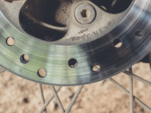 Motorcycle disk brake Stock Image