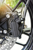 Motorcycle disk brake Royalty Free Stock Image