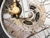 Motorcycle disk brake Royalty Free Stock Photos
