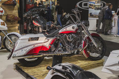 Motorcycle on display at EICMA 2014 in Milan, Italy Royalty Free Stock Photo