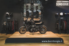 Motorcycle on display at EICMA 2014 in Milan, Italy Royalty Free Stock Image