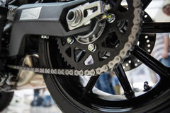 Motorcycle drive chain Royalty Free Stock Photos