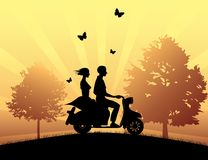 Motorcycle drive royalty free illustration