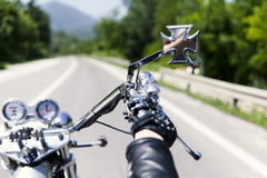 Motorcycle driver Stock Photography