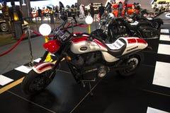 Motorcycle. Dubai, UAE - NOVEMBER-14-2011: Victory motorcycle on display at the Dubai Motor Show, UAE Stock Photography