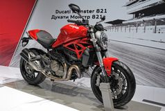 Motorcycle Ducati Monster 821 Stock Photo