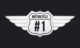 Motorcycle emblem Stock Images