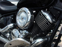 Motorcycle Engine. The engine on a motorcycle Royalty Free Stock Photo