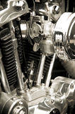 Motorcycle engine Stock Photography