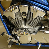 Motorcycle Engine. Close-up Classic Royalty Free Stock Photography