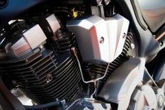 Motorcycle engine. Big V2 engine stock photo