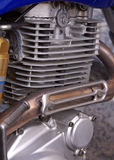 Motorcycle engine. A closeup of a motorcycle engine royalty free stock photo