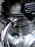 Motorcycle engine. Close shot of motorcycle engine royalty free stock photo