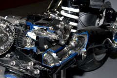 Motorcycle engine Royalty Free Stock Photos