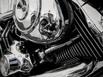 Motorcycle engine as background Stock Images
