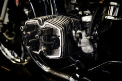 Motorcycle engine being repaired Stock Images