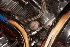 Motorcycle engine chrome Stock Image