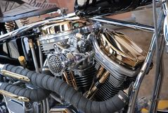 Motorcycle engine custom Royalty Free Stock Photography
