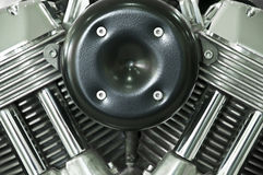 Motorcycle engine. Stock Photos
