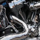 Motorcycle engine close-up Stock Image