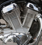 Motorcycle engine close-up Royalty Free Stock Photography
