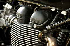 Motorcycle engine. Close-up detail background royalty free stock photos