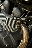 Motorcycle engine. Close-up detail background royalty free stock photography