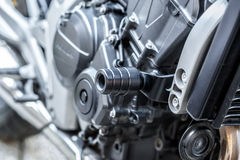 Motorcycle engine close-up detail background Royalty Free Stock Images