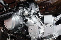 Motorcycle engine close-up detail Royalty Free Stock Images