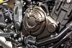 Motorcycle engine close-up detail Royalty Free Stock Photography
