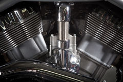 Motorcycle engine Stock Images