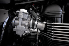 Motorcycle engine design Stock Photo