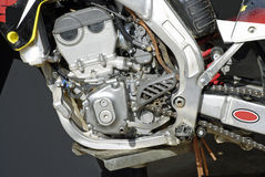 Motorcycle Engine Detail Stock Image
