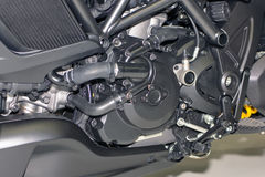 Motorcycle engine, detail of motorcycle engine Royalty Free Stock Photography