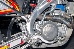 Motorcycle engine, detail of motorcycle engine Stock Image