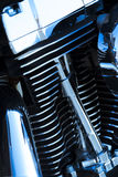 Motorcycle engine details. Close-up shot of a motorcycle engine Stock Photography