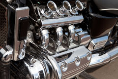 Motorcycle engine power Royalty Free Stock Photos