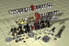 Motorcycle, Engine, Raytracing Stock Image