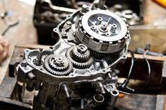 Motorcycle engine repair Royalty Free Stock Photos