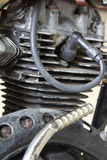 Motorcycle engine in rust. Stock Image